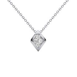 Μενταγιόν Κ18 λευκόχρυσο με διαμάντια - W123505
