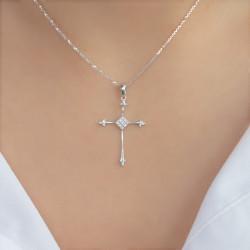 Χρυσός σταυρός με διαμάντια - M315131