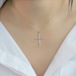Χρυσός σταυρός με διαμάντια - M315230