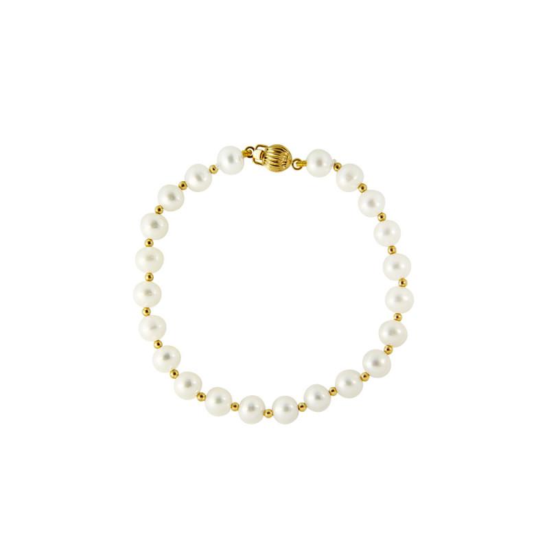 Βραχιόλι με λευκά μαργαριτάρια - G120765