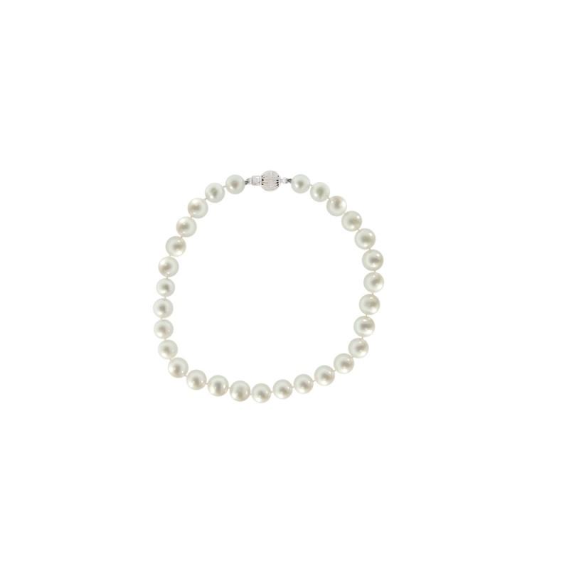 Βραχιόλι με λευκά μαργαριτάρια - W220112