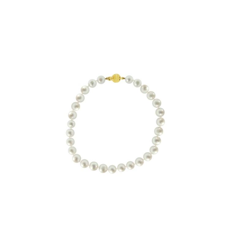 Βραχιόλι με λευκά μαργαριτάρια - G220112