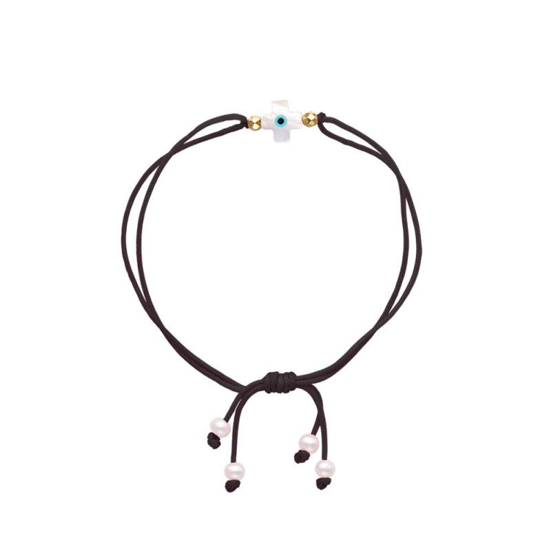 Βραχιόλι με μαργαριτάρια και αιματίτη - M805707