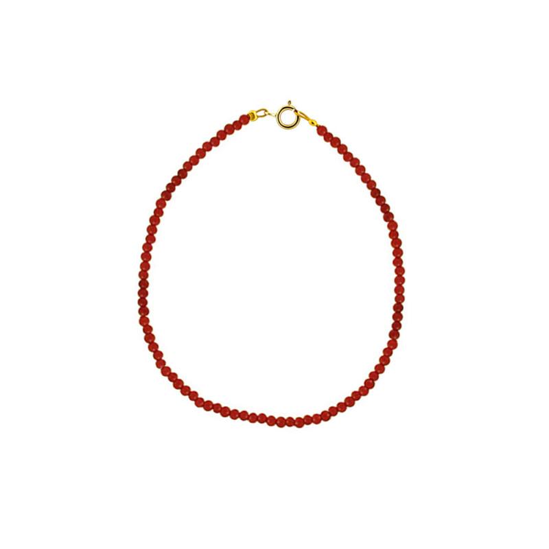 Βραχιόλι με κοράλλι και κούμπωμα Κ14 - M122970C