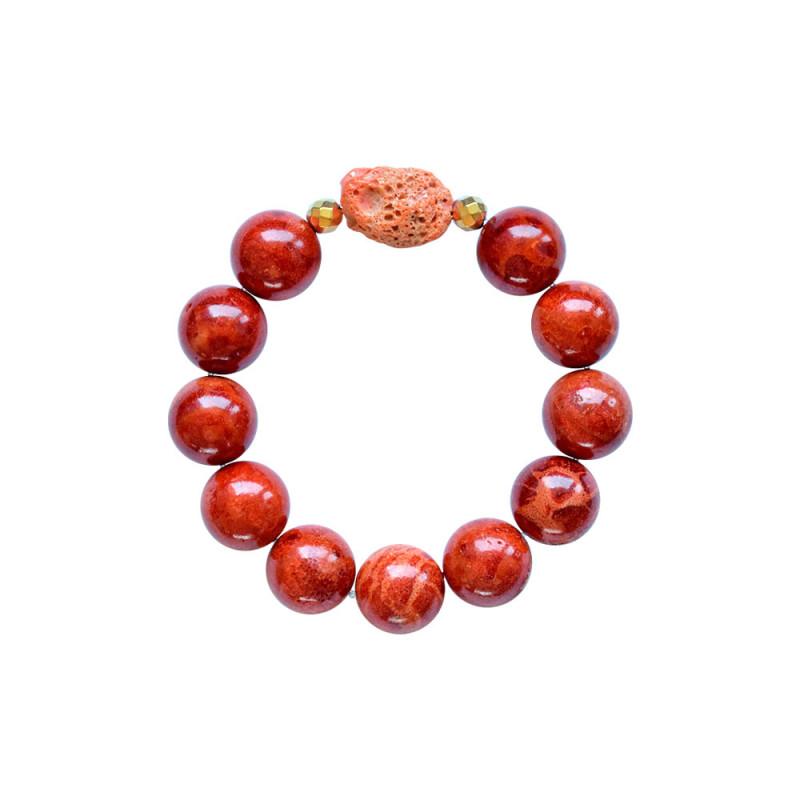 Βραχιόλι με Coral και Hematite - M123343C