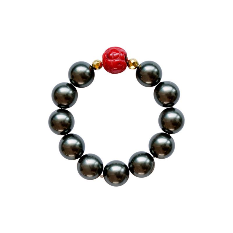 Βραχιόλι με Shell Pearl, Coral και Hematite - M123343F