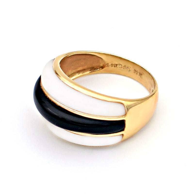 Δαχτυλίδι με Mother Of Pearl και Όνυχα σε χρυσό Κ14 - G320193