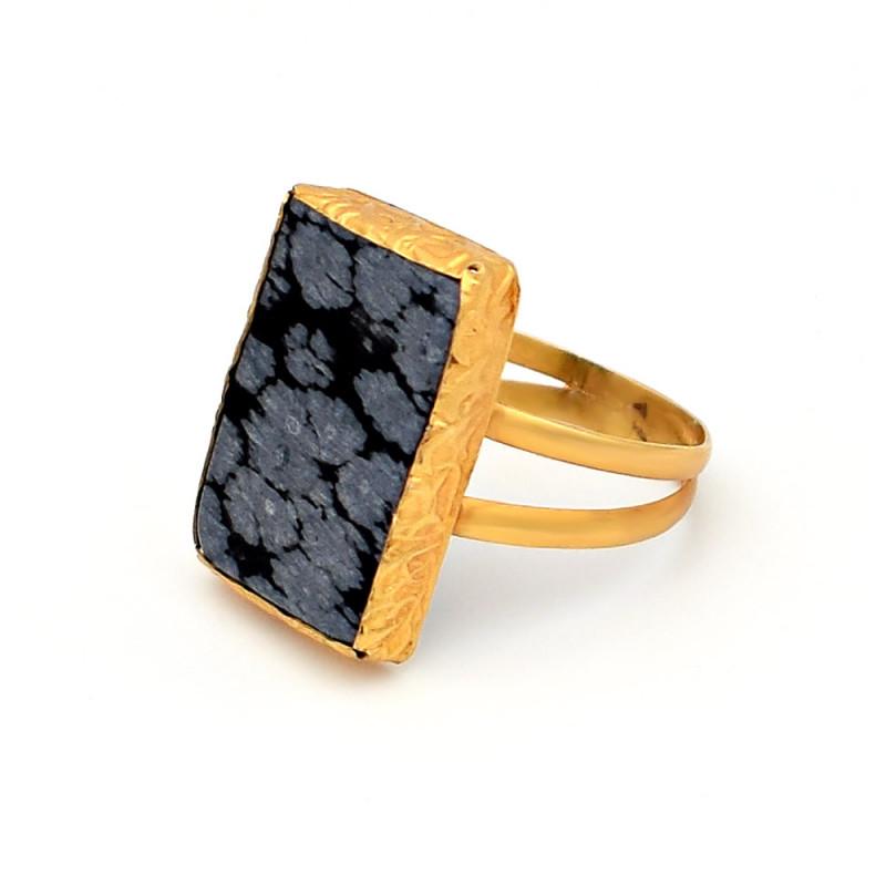 Δαχτυλίδι με iaspis σε χρυσό Κ14 - M305998