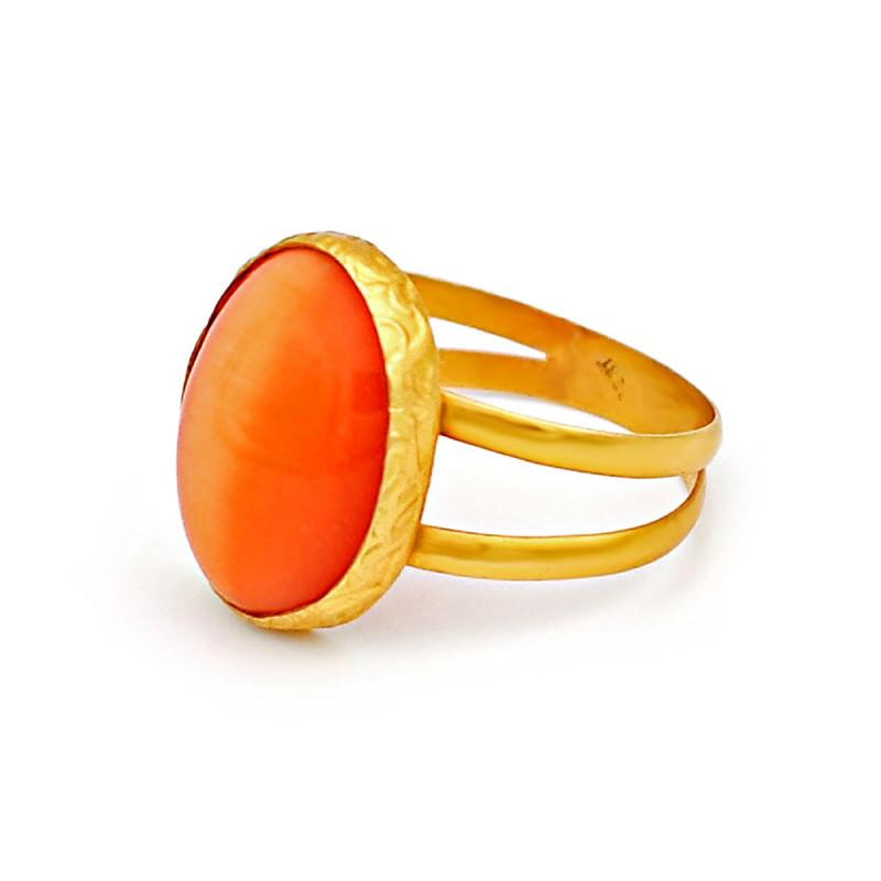 Δαχτυλίδι με Cornelium σε χρυσό Κ14 - M305999