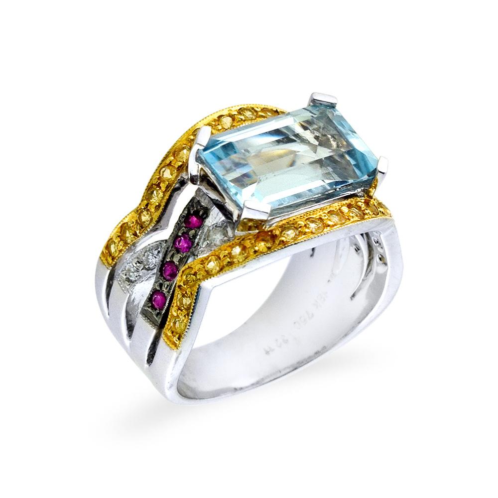 Δαχτυλίδι με Aquamarine e855b6158eb
