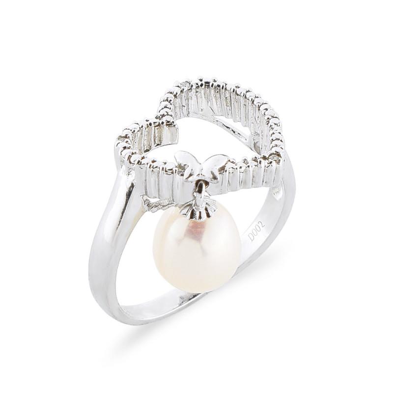 Δαχτυλίδι με μαργαριτάρι Fresh Water σε ασήμι 925 - M117754R