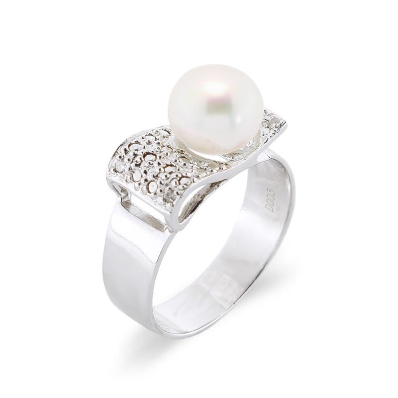 Δαχτυλίδι με μαργαριτάρι Fresh Water σε ασήμι 925 - M117755R