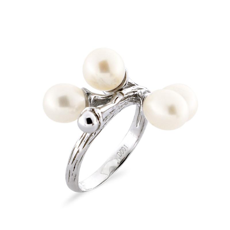 Δαχτυλίδι με μαργαριτάρι Fresh Water σε ασήμι 925 - M117757R