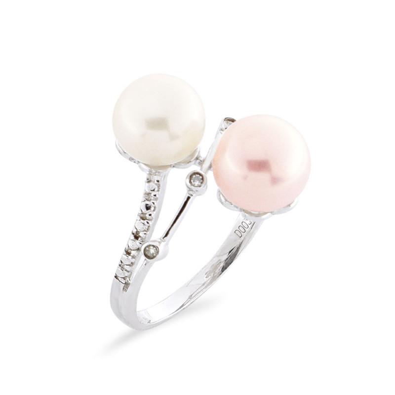 Δαχτυλίδι με μαργαριτάρια Fresh Water σε ασήμι 925 - M117761