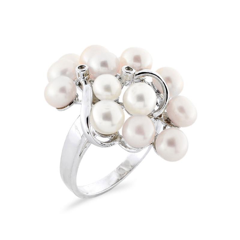 Δαχτυλίδι με μαργαριτάρια Fresh Water σε ασήμι 925 - M117763R