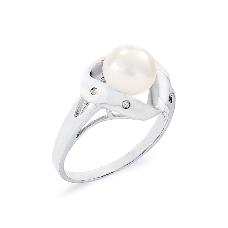 Δαχτυλίδι με μαργαριτάρι Fresh Water σε ασήμι 925 - M117795