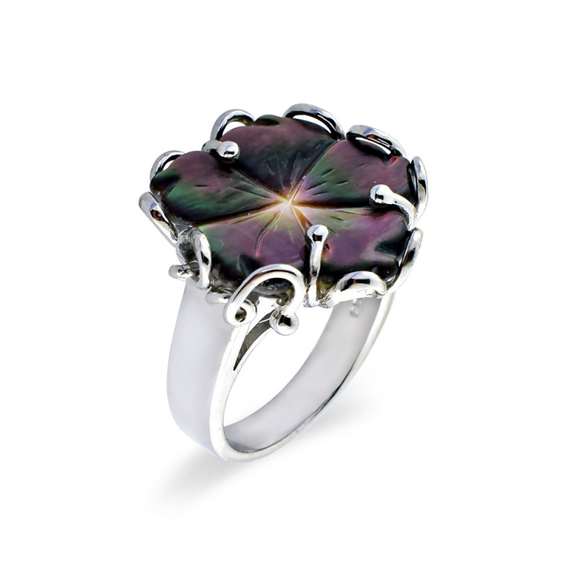 Δαχτυλίδι με Mother Of Pearl σε ασήμι 925 - M123470