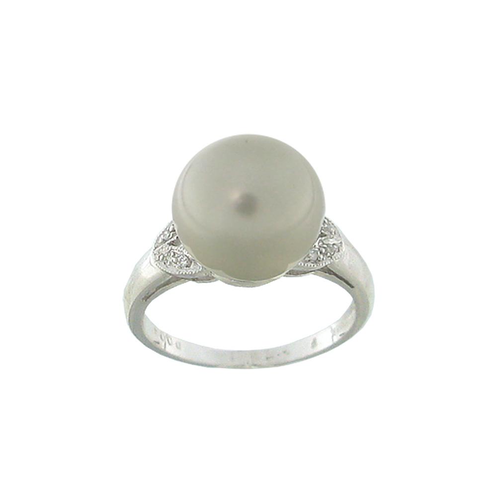 Δαχτυλίδι με μαργαριτάρι και διαμάντια σε λευκόχρυσο Κ18 - M309714 857b70bf7ca