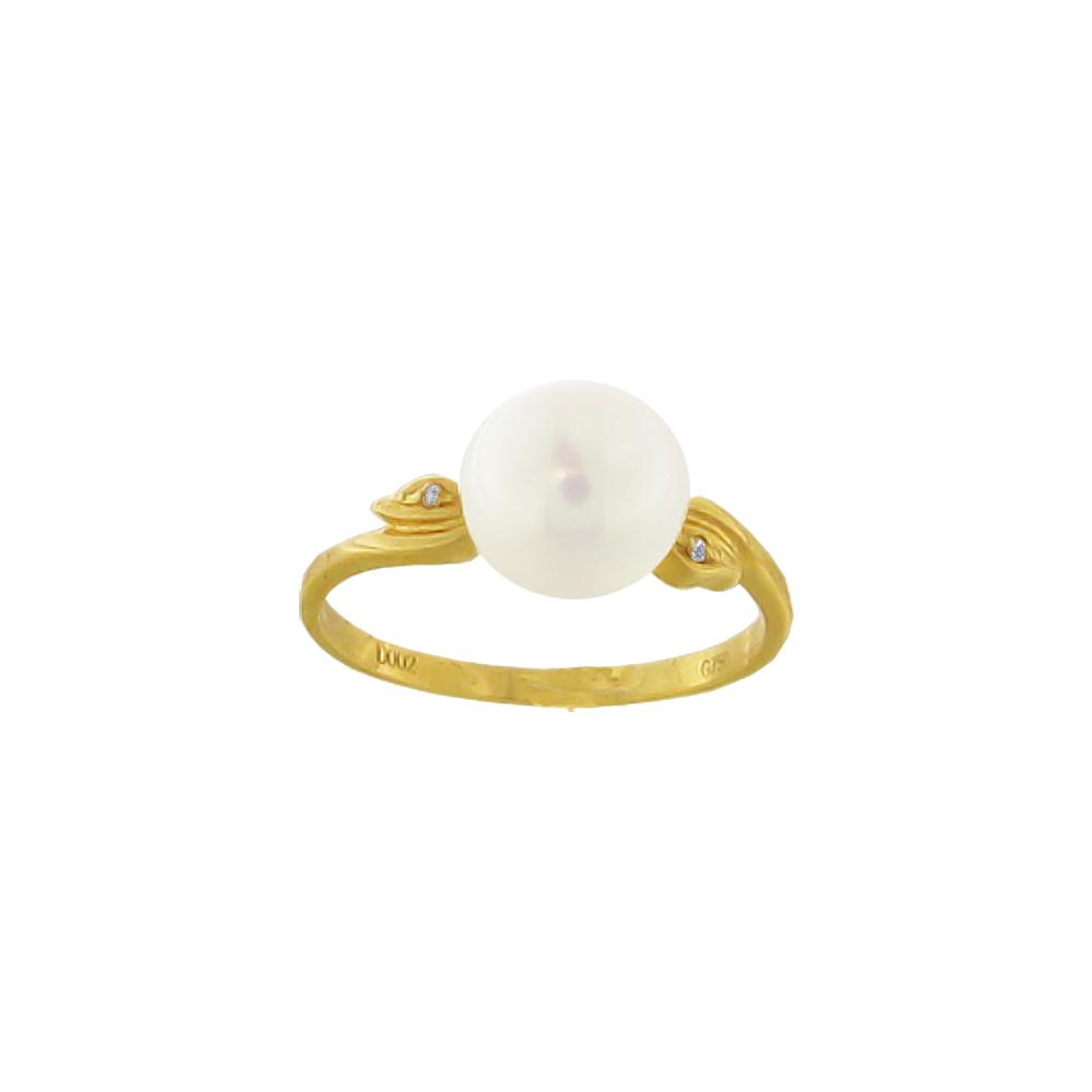 Δαχτυλίδι με μαργαριτάρι και διαμάντια σε χρυσό Κ18 - M317267 68e41fdd11c