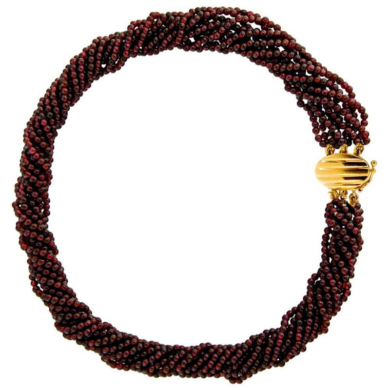 Κολιέ με γρανάδα και χρυσό κούμπωμα K18 - M123566