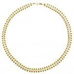Κολιέ με λευκά μαργαριτάρια και χρυσά στοιχεία 14K - M122796