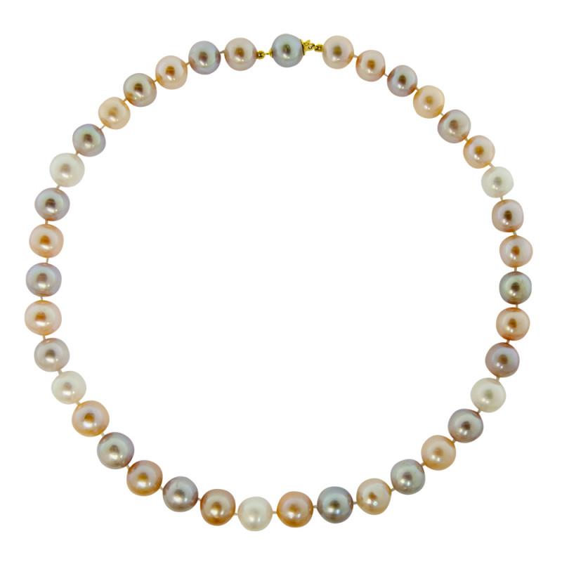 Κολιέ με πολύχρωμα μαργαριτάρια και χρυσά στοιχεία 18K - M118857M