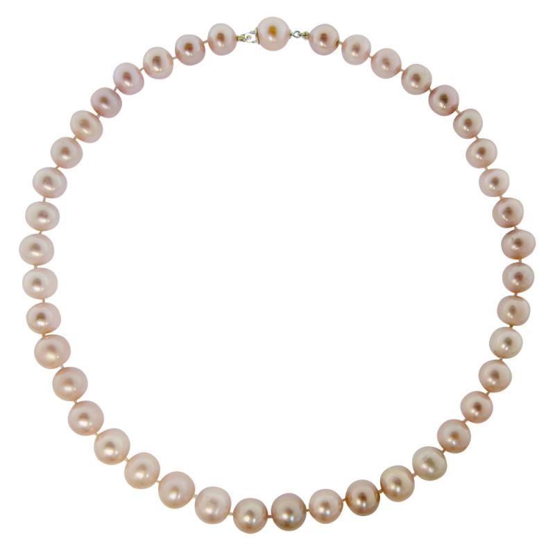 Κολιέ με μαργαριτάρια 11,0-12,0mm και χρυσά στοιχεία K18 - M118857S