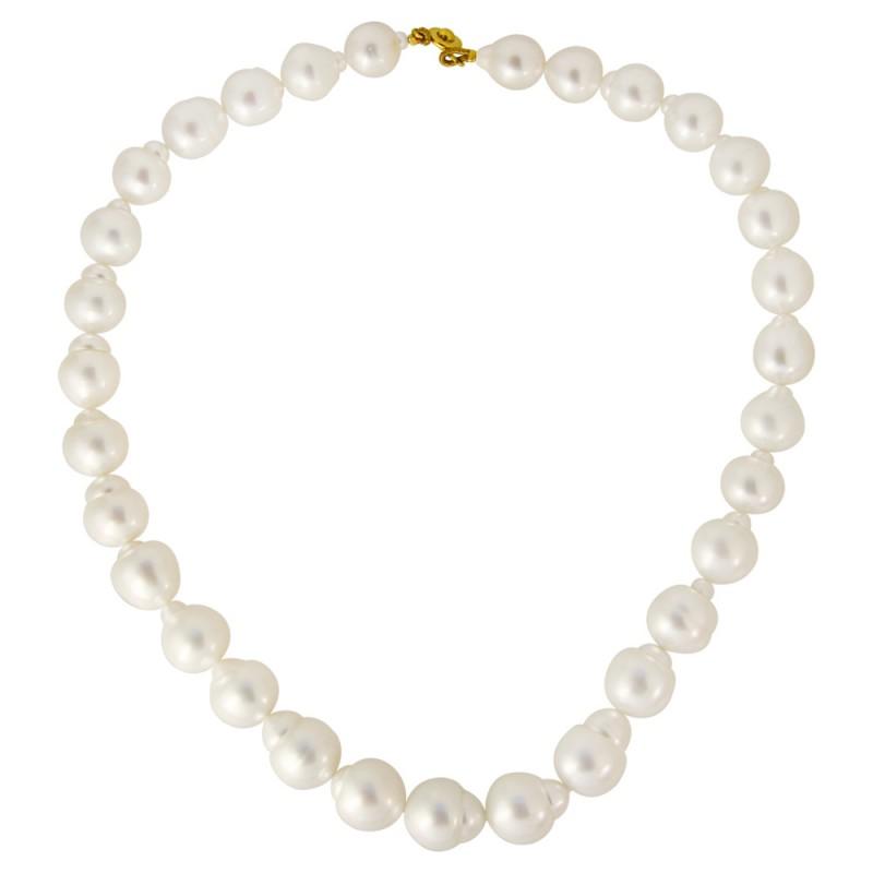 Κολιέ με λευκά μαργαριτάρια South Sea Australia - M118979