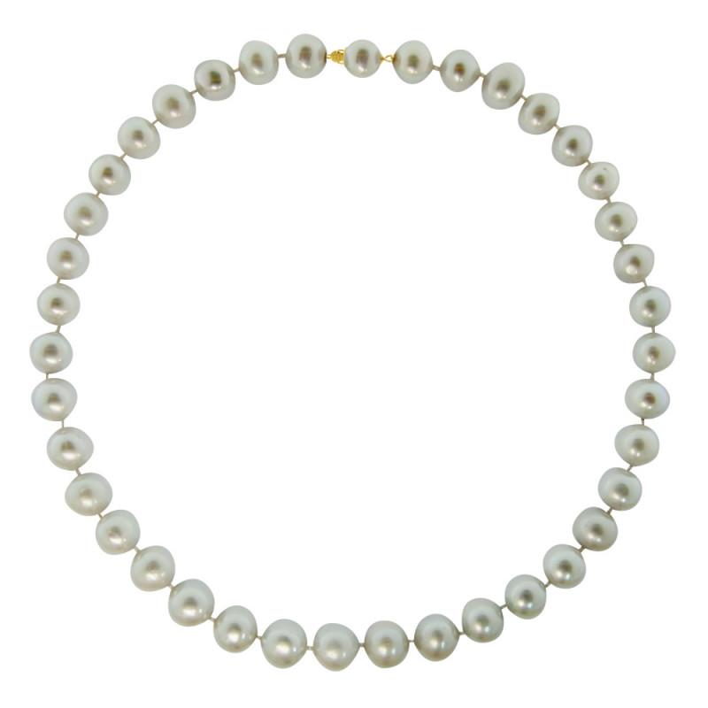 Κολιέ με μαργαριτάρια 11,0-11,5mm και χρυσά στοιχεία K18 - M119151