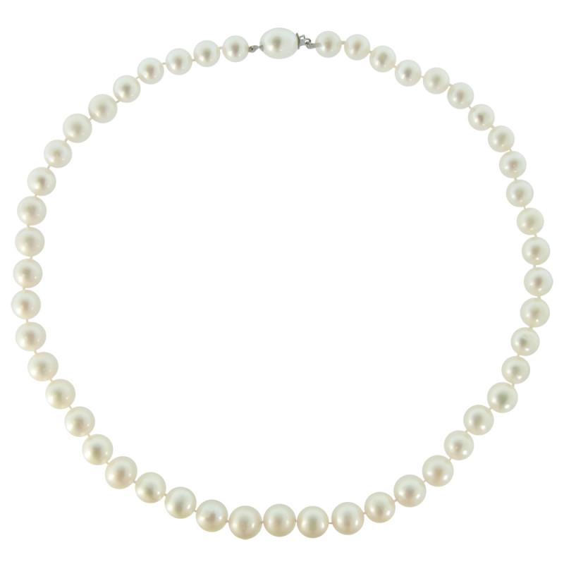 Κολιέ με λευκά μαργαριτάρια και χρυσά στοιχεία Κ18 - M119697