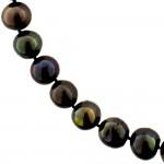 Κολιέ με μαύρα μαργαριτάρια και χρυσά στοιχεία 18K - M121896