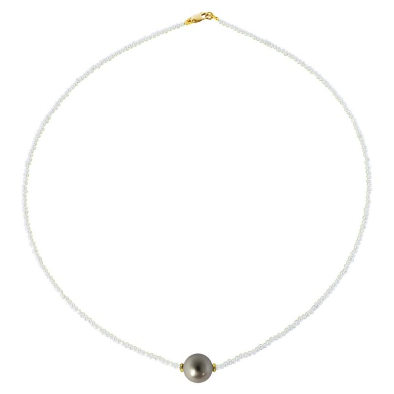 Κολιέ με μαργαριτάρια - M122033B