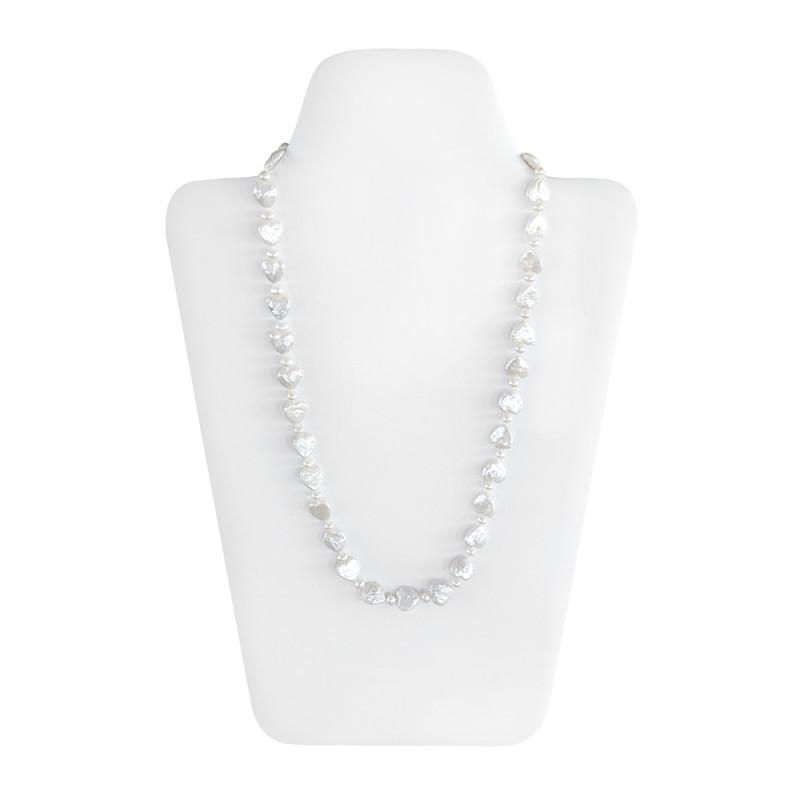 Κολιέ με λευκά μαργαριτάρια Fresh Water Pearl - M122051