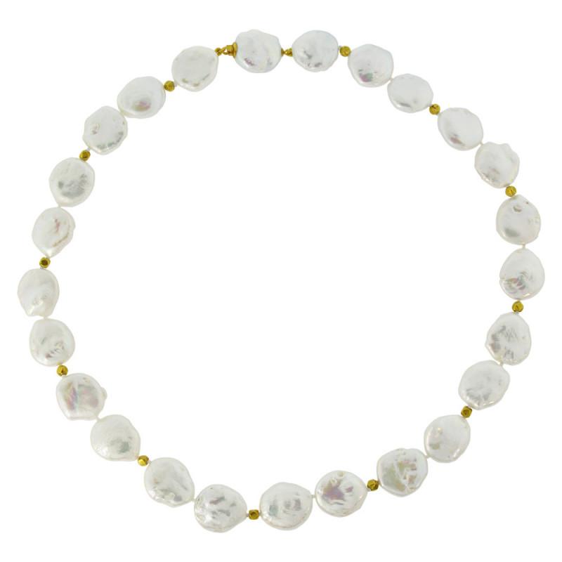 Κολιέ με λευκά μαργαριτάρια - M122182
