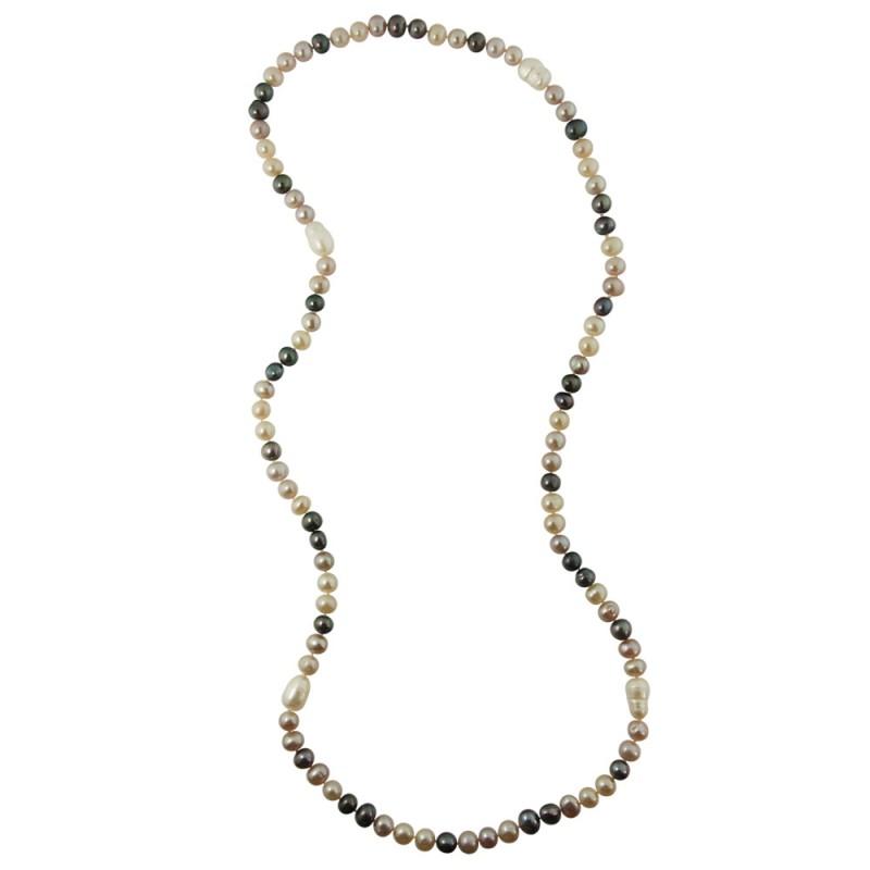 Κολιέ με πολύχρωμα μαργαριτάρια Fresh Water Pearl - M122350