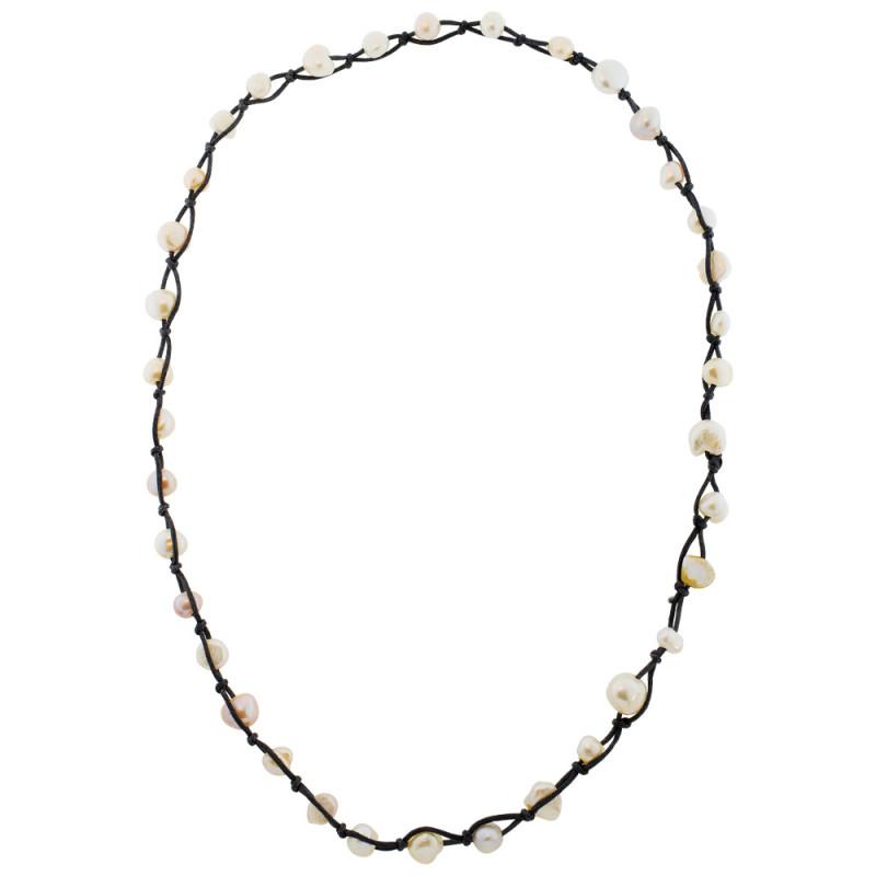 Κολιέ με πολύχρωμα μαργαριτάρια - M122434