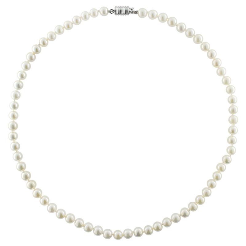 Κολιέ με μαργαριτάρια Akoya και λευκόχρυσο κούμπωμα K18 - M122463