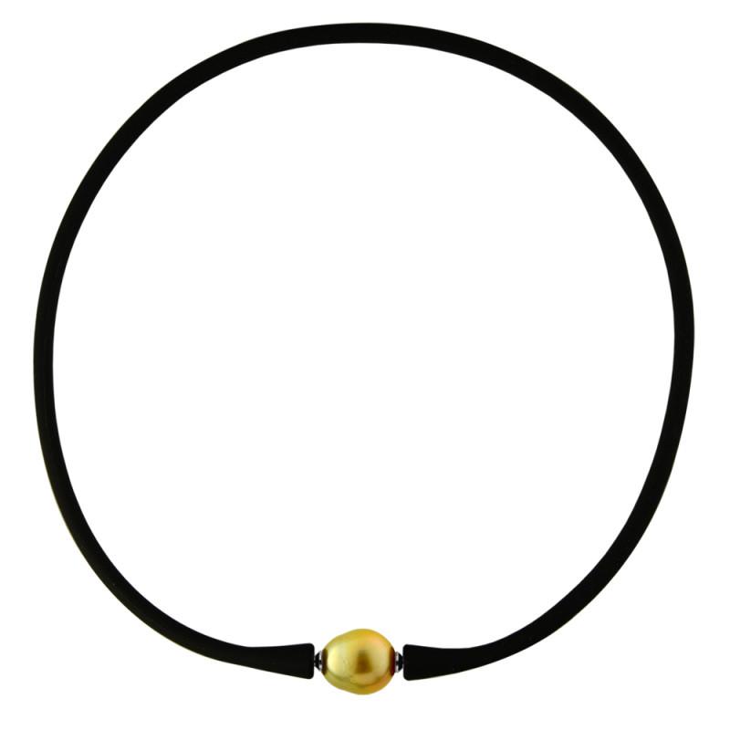 Κολιέ με gold μαργαριτάρι - M122715SGLG