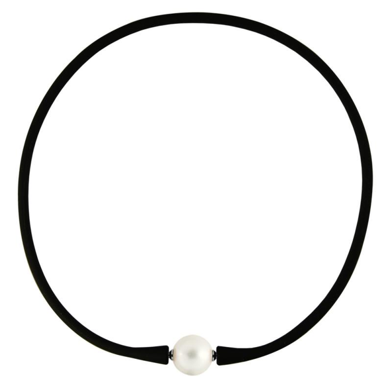Κολιέ με λευκό μαργαριτάρι - M122715SGLW