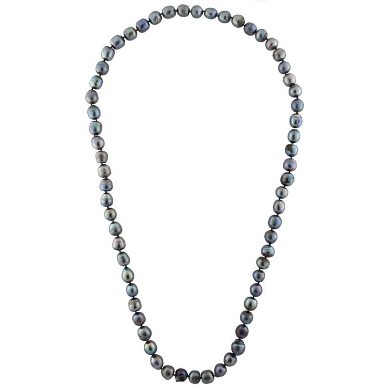 Κολιέ με μαύρα μαργαριτάρια - M122719
