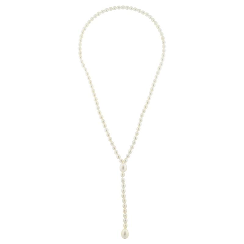 Κολιέ με λευκά μαργαριτάρια - M122720