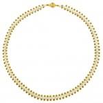 Κολιέ με λευκά μαργαριτάρια και χρυσά στοιχεία 14K - M123171