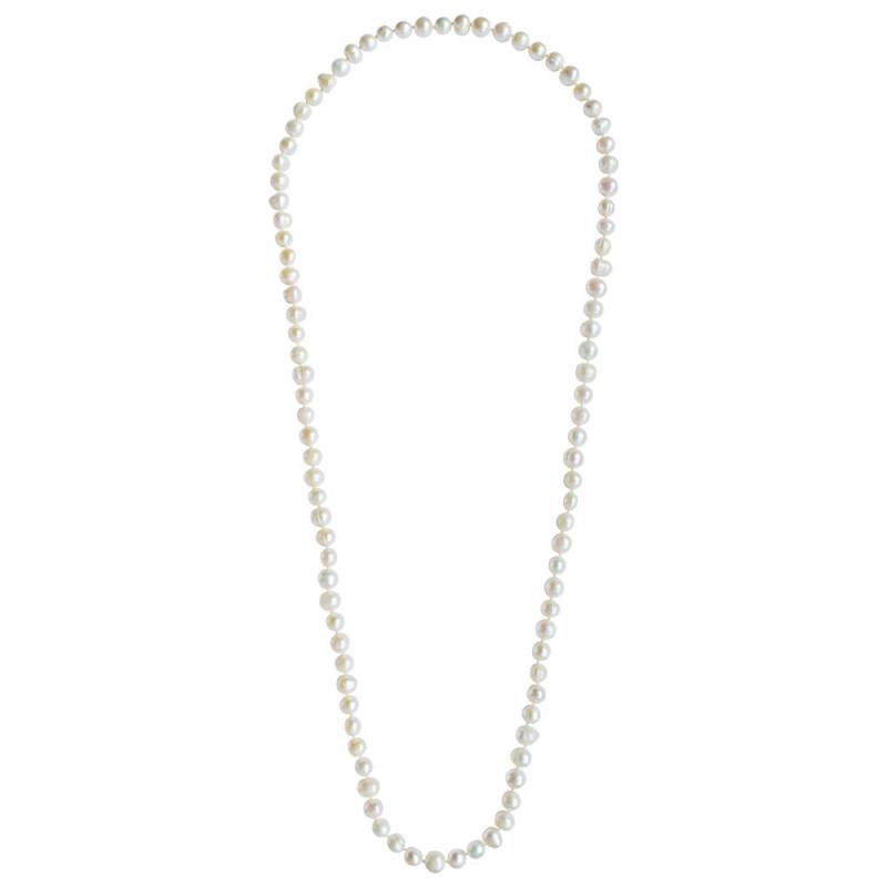 Κολιέ με λευκά μαργαριτάρια Fresh Water Pearl - M123467
