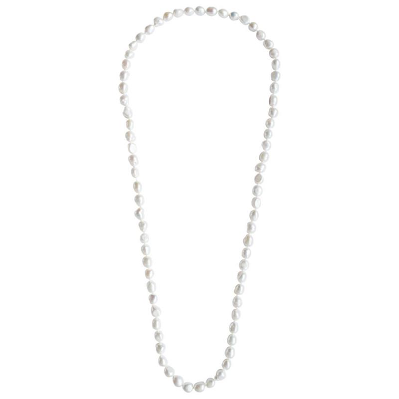 Κολιέ με λευκά μαργαριτάρια Fresh Water Pearl - M123469