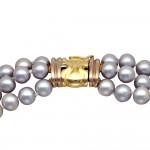 Κολιέ με μαργαριτάρια και χρυσό κούμπωμα K14 - M123654