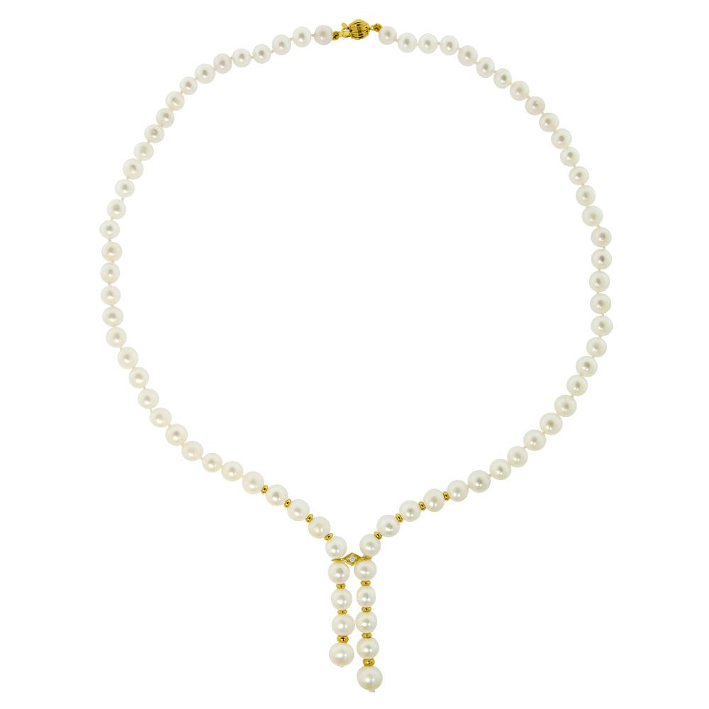 Κολιέ με λευκά μαργαριτάρια 87a41cb3b43