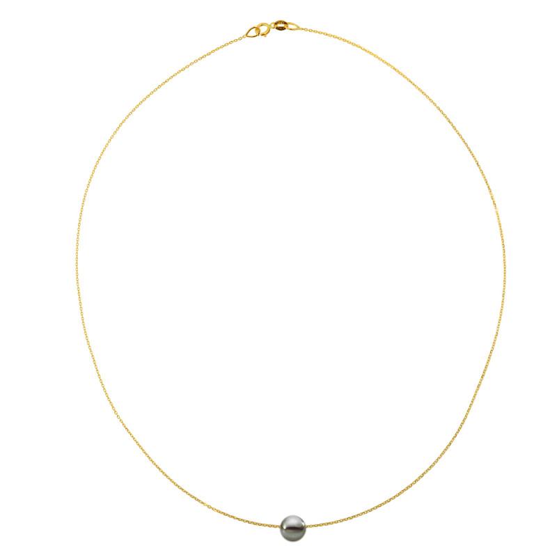 Κολιέ με μαργαριτάρι σε χρυσή αλυσίδα Κ14 - M981022