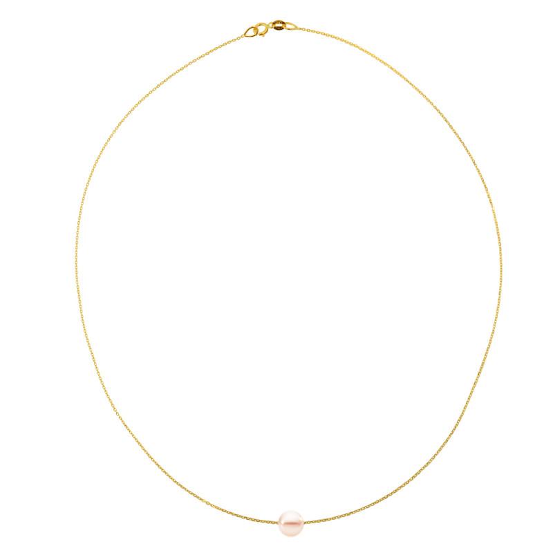 Κολιέ με μαργαριτάρι σε χρυσή αλυσίδα Κ14 - M981023