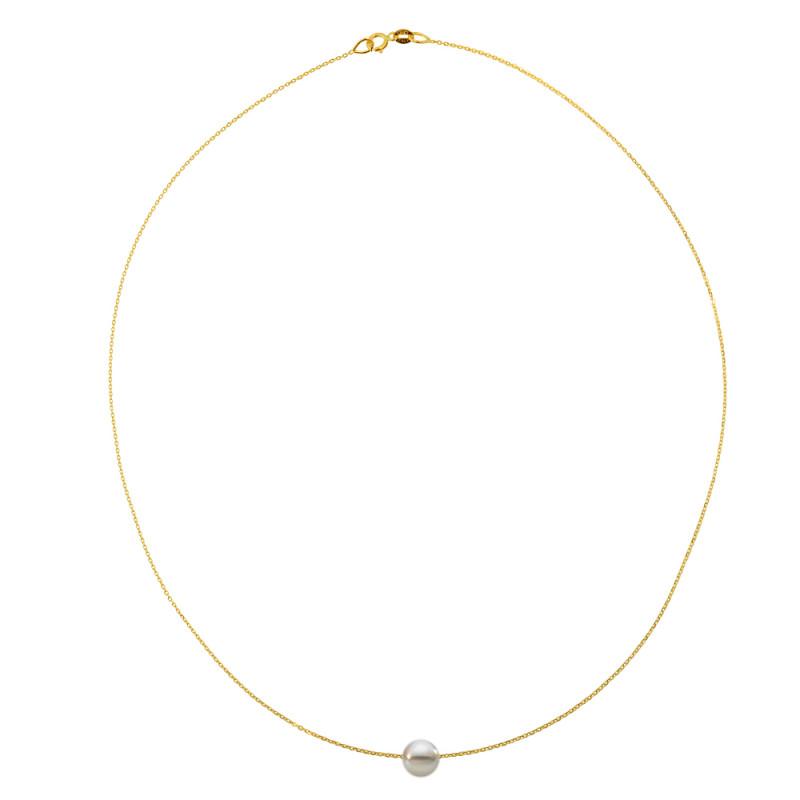 Κολιέ με μαργαριτάρι σε χρυσή αλυσίδα Κ14 - M981024
