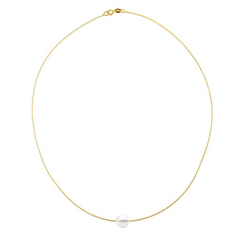 Κολιέ με μαργαριτάρι σε χρυσή αλυσίδα Κ14 - M981025